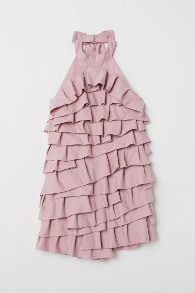 Short flounced dress - Powder pink -  | H&M