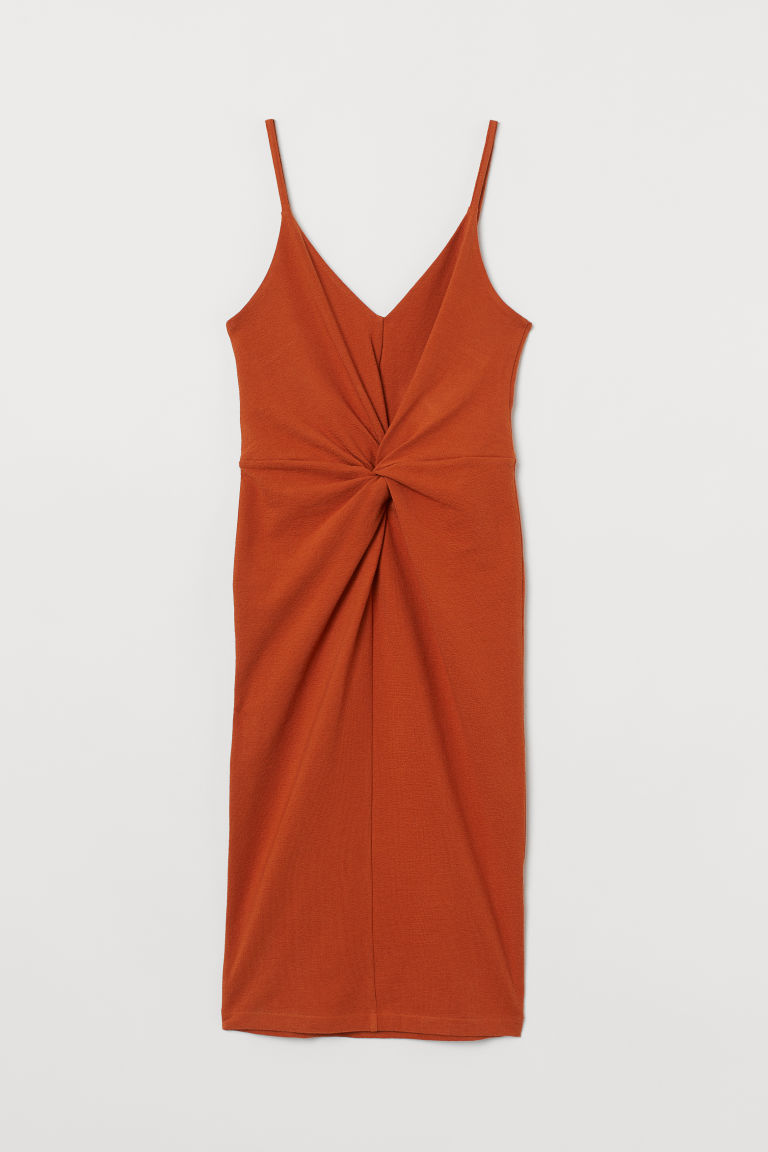 Bodycon dress - Dark orange - Ladies | H&M