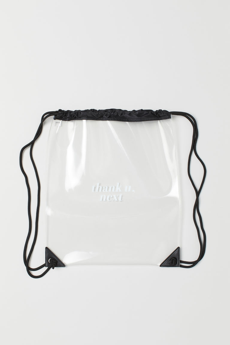 Transparent gym bag - Black/Ariana Grande -  | H&M