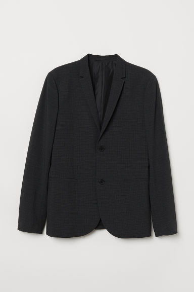 Jacket Super skinny fit - Black/Checked - Men | H&M