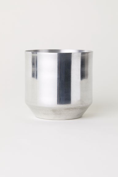 Small metal plant pot - Silver-coloured -  | H&M GB