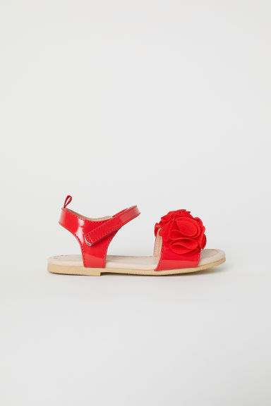 Appliquéd sandals - Bright red - Kids | H&M