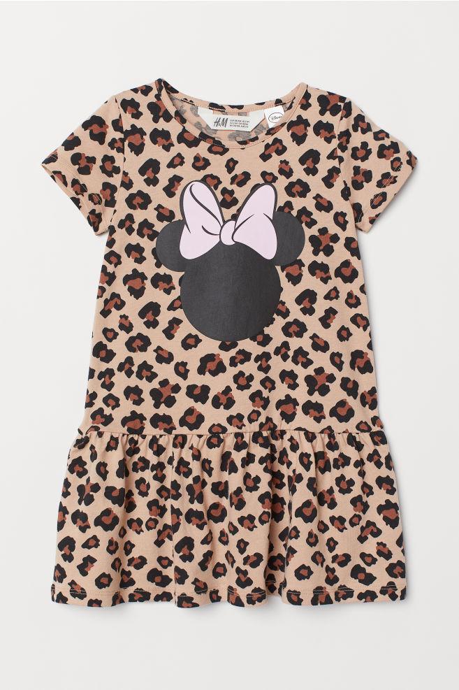 cef2154f80f88 ... Kleid mit Motiv - Hellbeige Minnie Maus - Kids