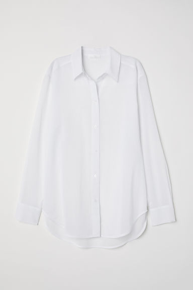 Airy cotton shirt - White - Ladies | H&M