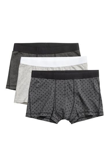 3-pack trunks - Mörkgrå -  | H&M FI