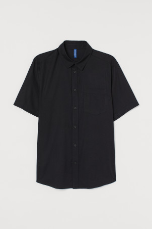 Short-sleeved Cotton ShirtModel
