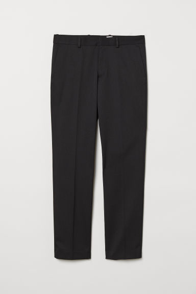 Wool-blend suit trousers - Black -  | H&M CN