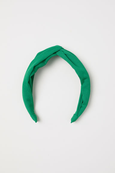 Alice band with a knot - Green - Ladies | H&M CN