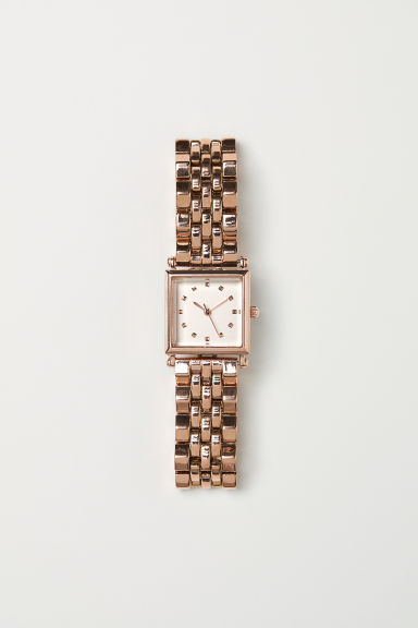 Metal watch - Rose gold-coloured -  | H&M GB