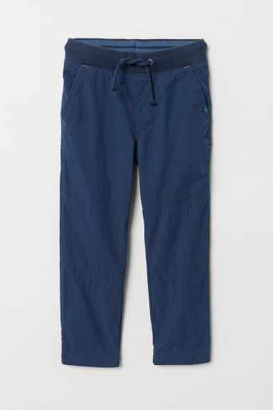 Jersey-lined trousers - Dark blue - Kids | H&M CN