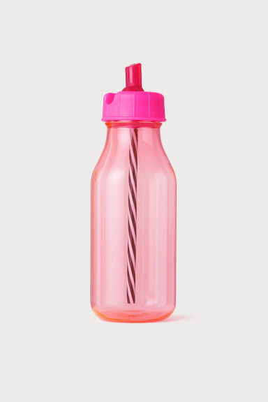 Bottle with a straw - Pink -  | H&M CN