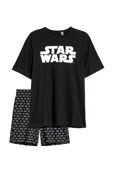 Pyjama T-shirt and shorts - Black/Star Wars -  | H&M