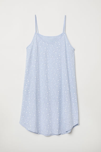 Jersey nightslip - Light blue marl/Stars - Ladies | H&M