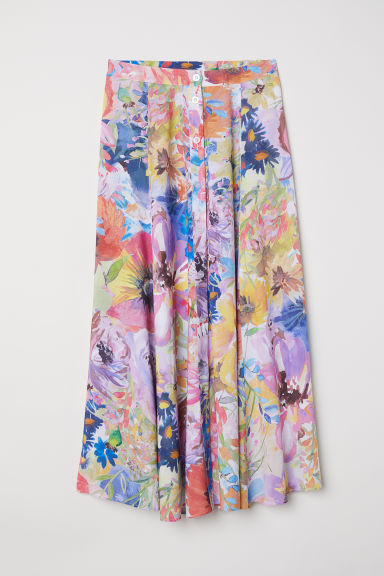 Gonna scampanata - Multicolore/fiori - DONNA | H&M IT