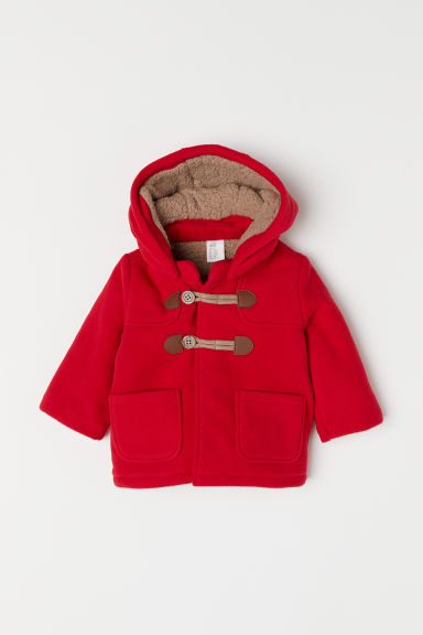 Pile-lined duffle coat - Red - Kids | H&M