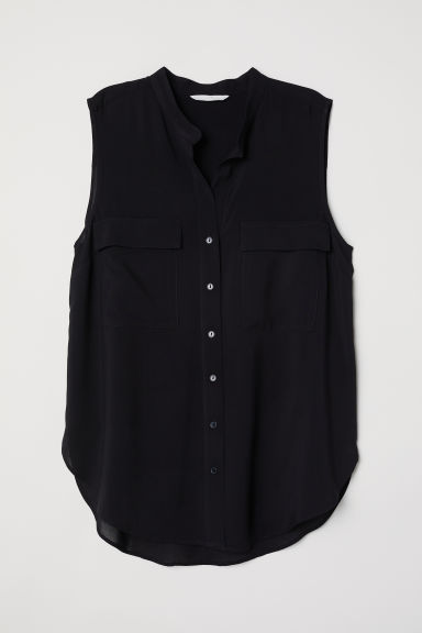 Sleeveless blouse - Black - Ladies | H&M