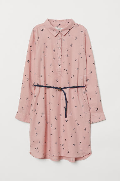 Shirt dress - Dusky pink/Floral - Kids | H&M