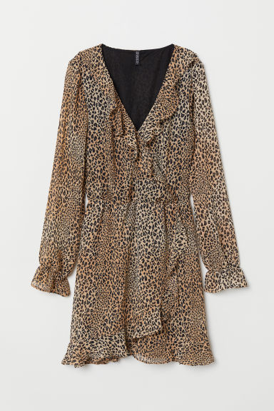 Wrap dress - Brown/Leopard print -  | H&M GB