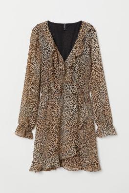 2d6ceadb5f85f Brown Leopard print · Wrap dress