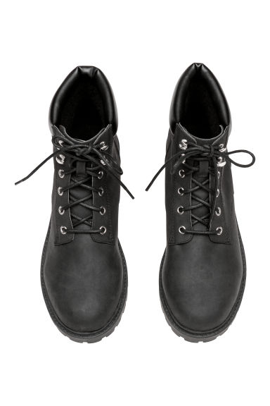 Pile-lined boots - Black -  | H&M IE