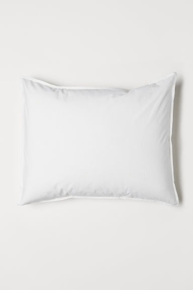Washed cotton pillowcase - White - Home All | H&M GB