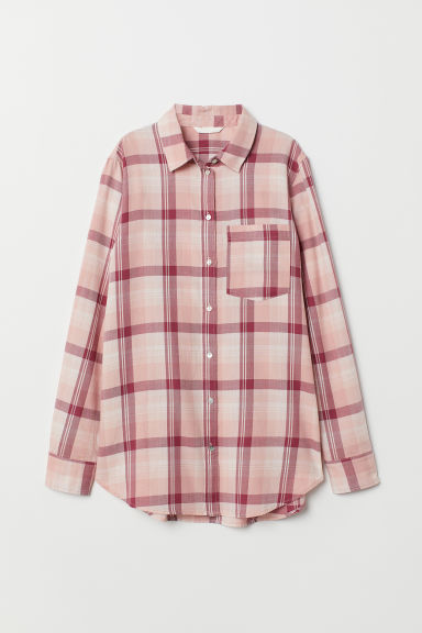Camicia a quadri - Rosa chiaro/quadri - DONNA | H&M IT