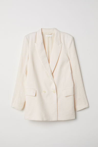 Double-breasted jacket - Cream - Ladies | H&M GB