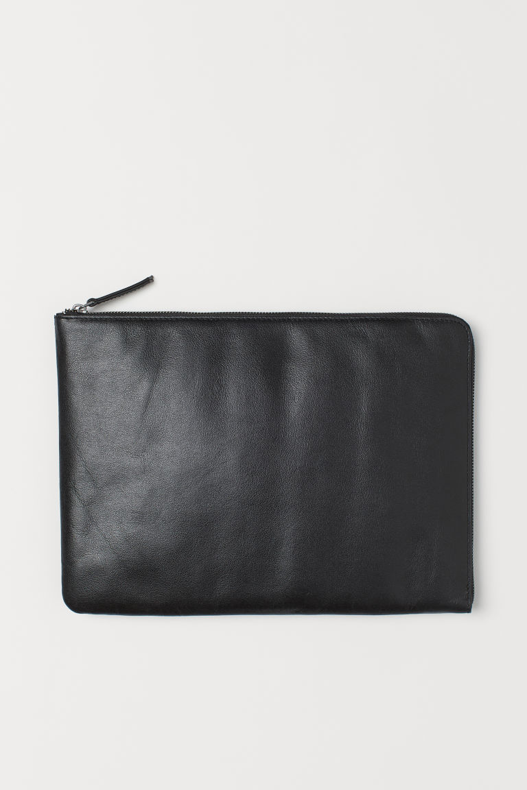 Leather laptop case - Black - Men | H&M