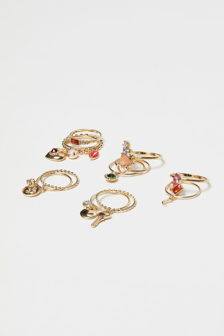 12-pack rings - Gold-coloured - Ladies | H&M CN