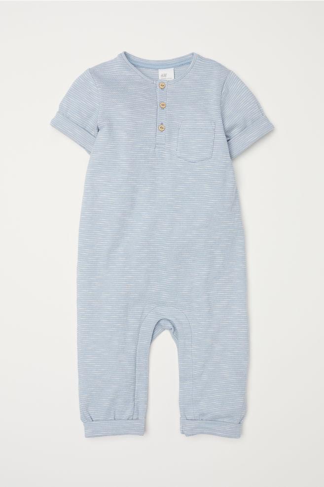 9162e720ab8d Short-sleeved romper suit - Light blue - Kids