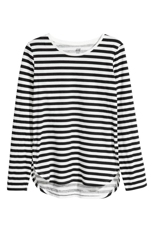 cba4ad0f3a 2-pack tops - Black/White striped - Kids | H&M ...