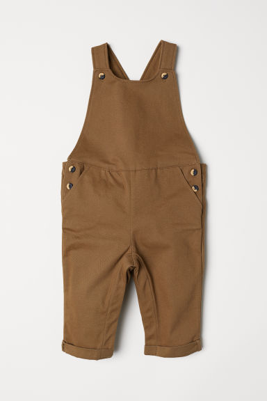 Salopette in twill - Beige scuro - BAMBINO | H&M IT
