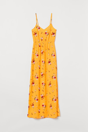 Crêpe maxi dress