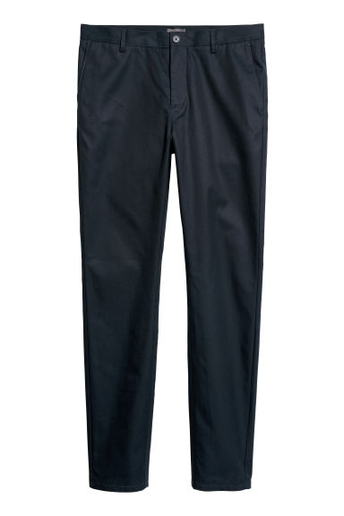 Chinos Slim fit - Dark blue - Men | H&M