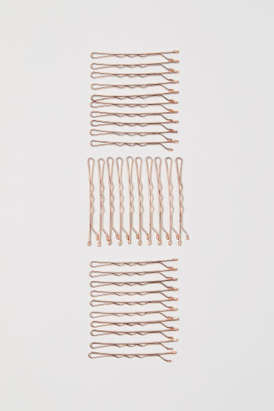 30-pack hair grips - Rose gold-coloured - Ladies | H&M