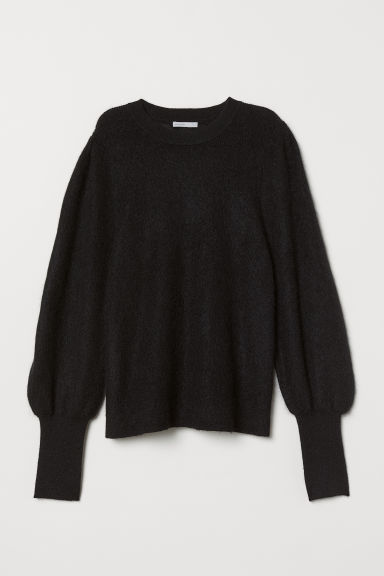 Mohair-blend Sweater - Black - Ladies | H&M US