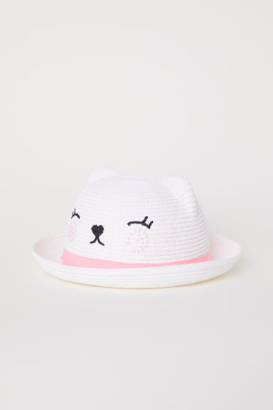 Straw hat with ears - White - Kids | H&M