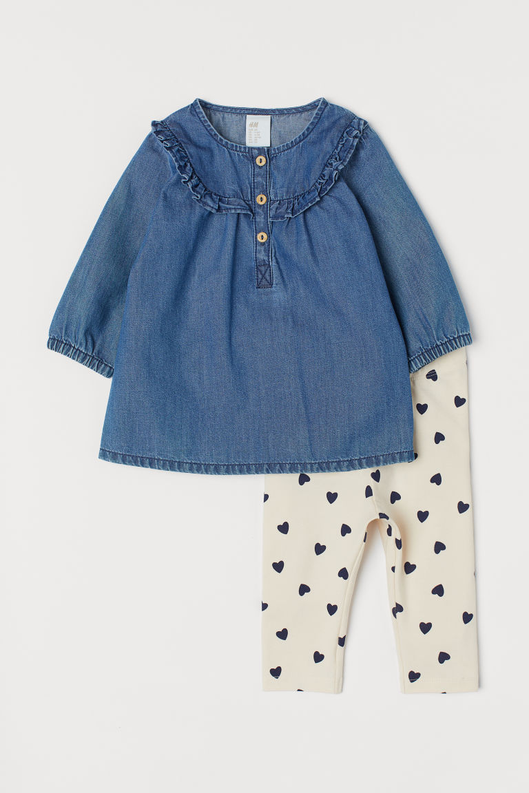 Abito e leggings - Blu denim scuro - BAMBINO | H&M IT