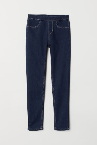 Denim leggings - Dark denim blue - Kids | H&M
