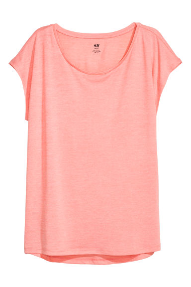 Sports top - Coral pink - Ladies | H&M IE
