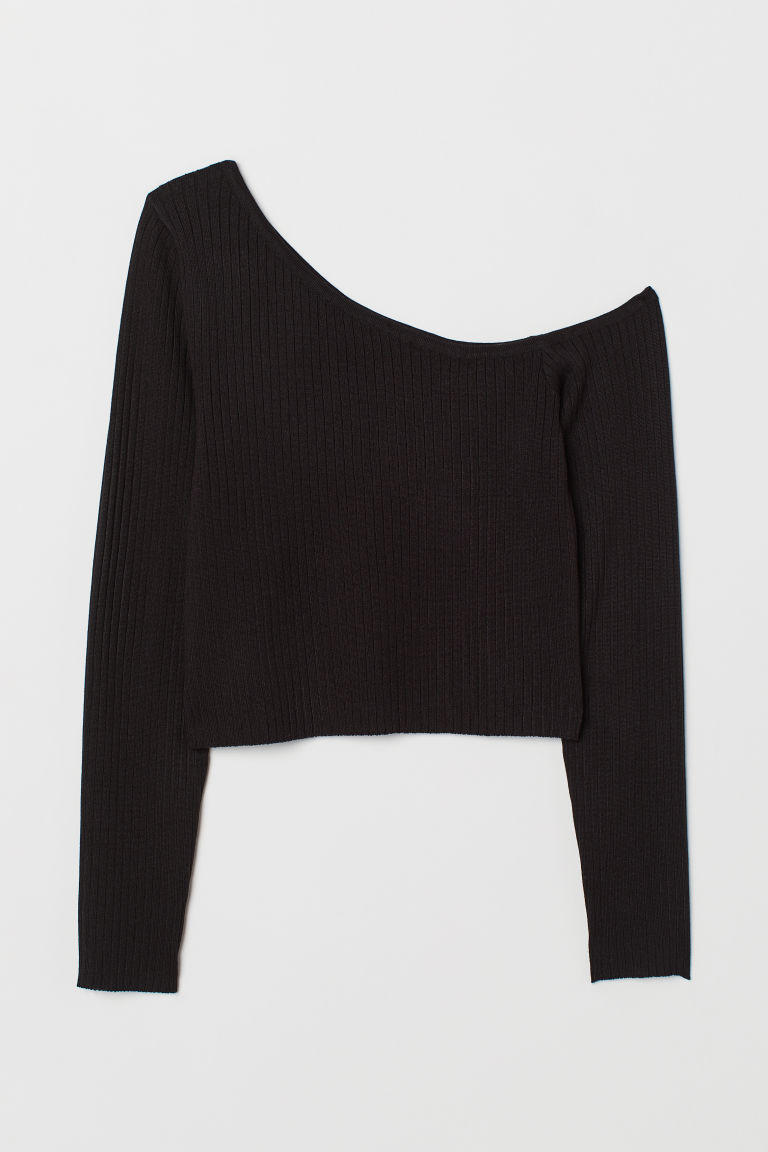 One-Shoulder-Pullover - Schwarz - Ladies | H&M AT