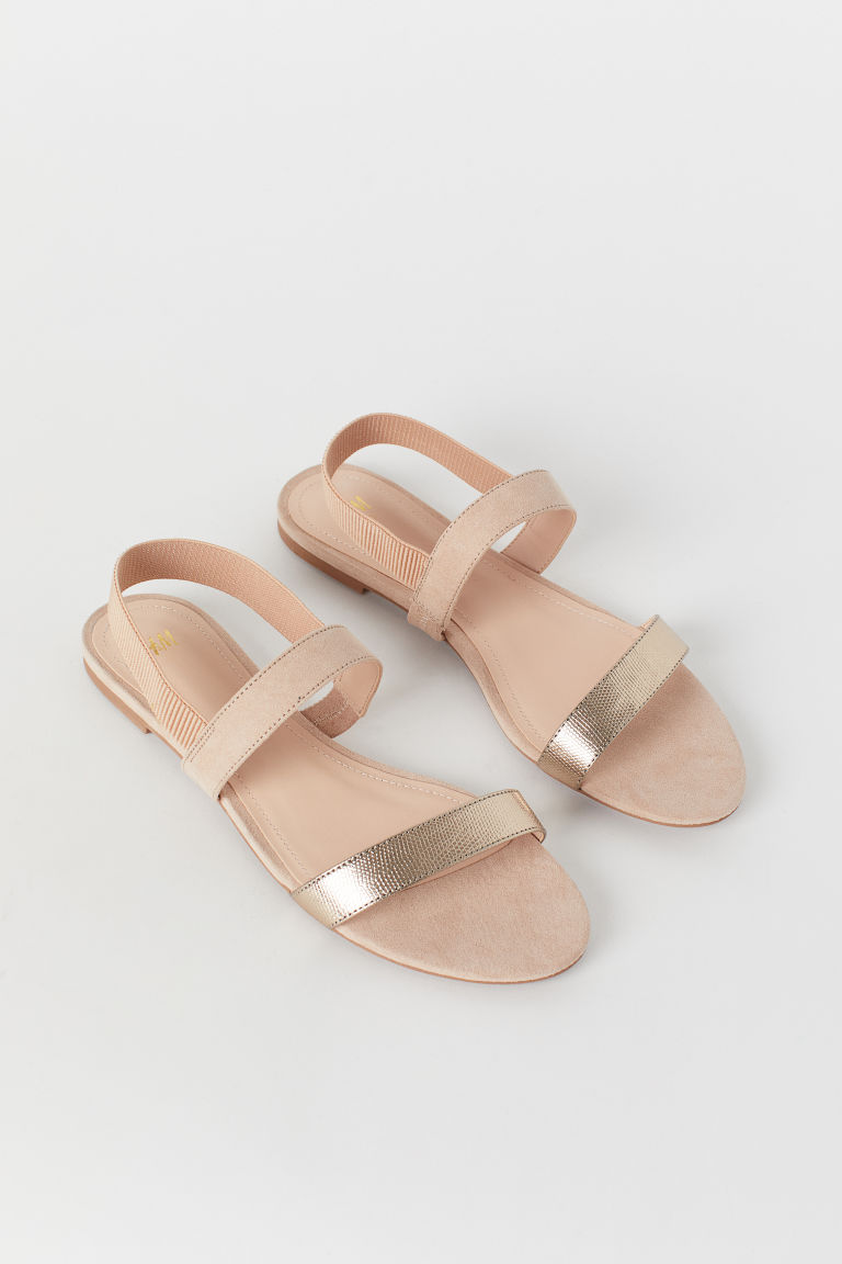 Sandals - Beige/Gold-coloured - Ladies | H&M CN