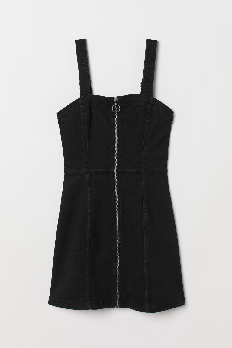 Dungaree dress - Black - Ladies | H&M GB