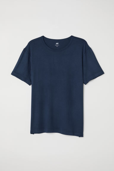 T-shirt in jersey di viscosa - Blu scuro - UOMO | H&M IT