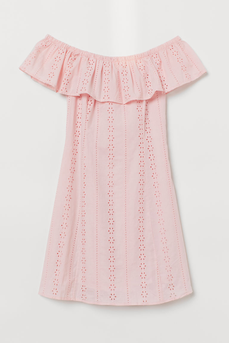 Off-the-shoulder Dress - Light pink -  | H&M CA