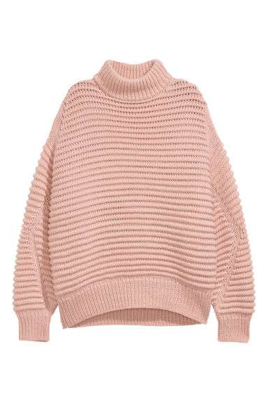 Knitted wool-blend jumper - Powder pink -  | H&M