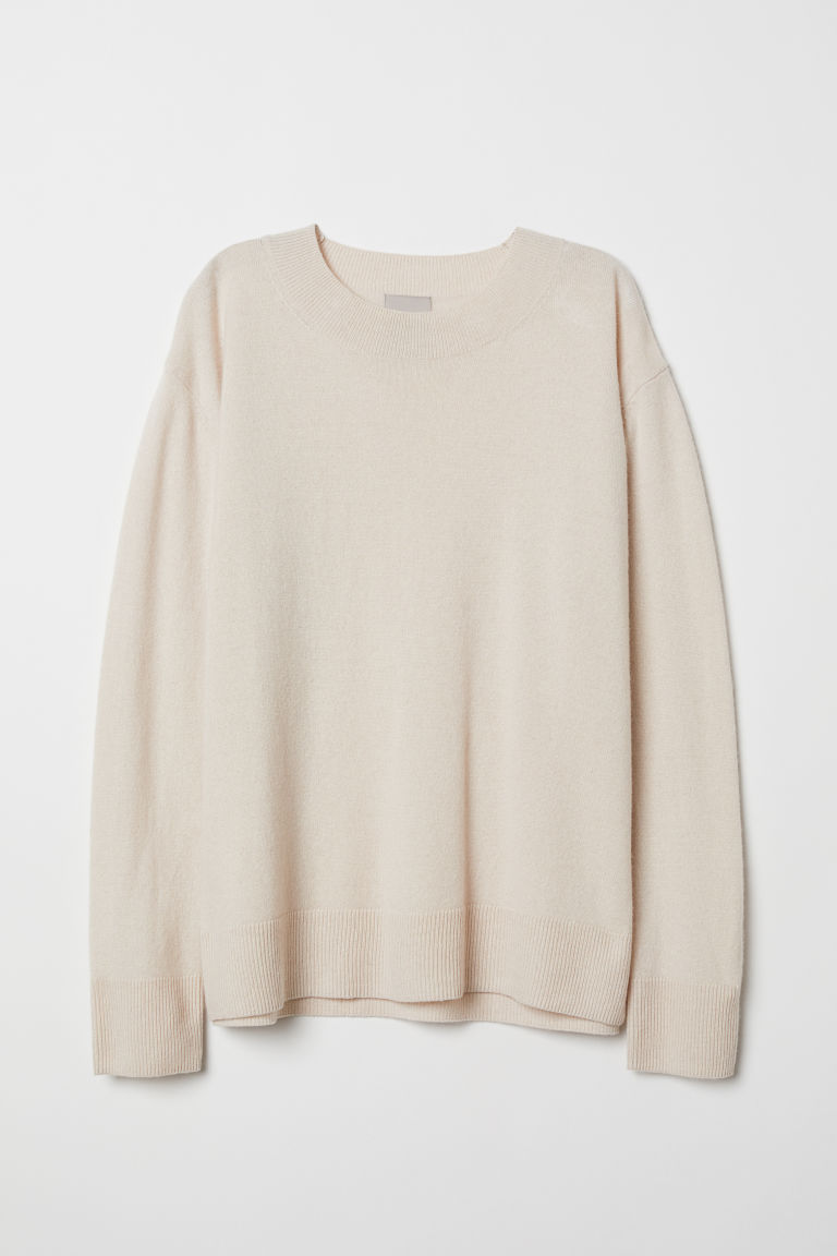 Cashmere Sweater - Light beige - Ladies | H&M US