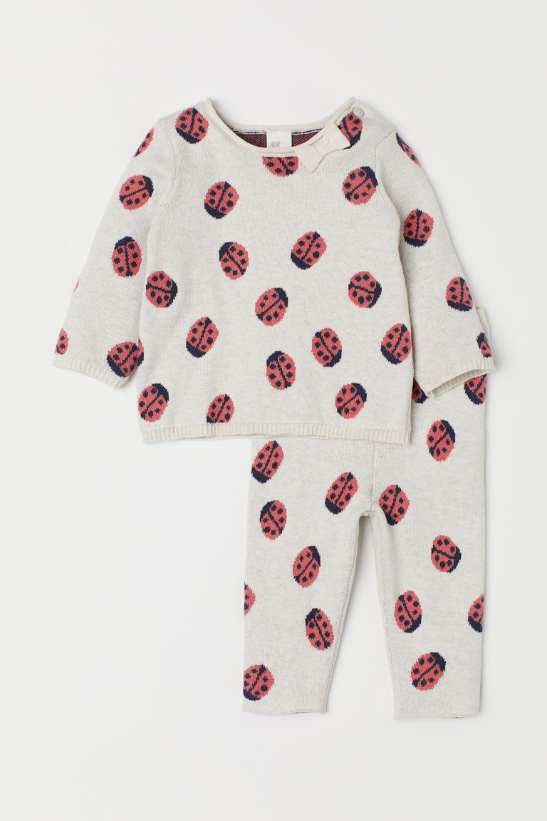 Jumper and trousers - Natural white/Ladybirds -  | H&M CN