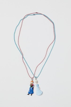 2-pack necklaces with pendant