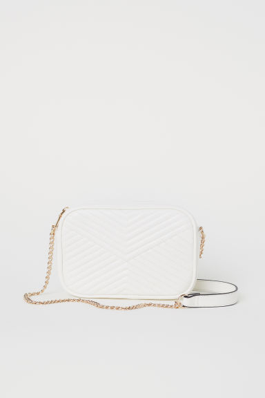Quilted shoulder bag - White -  | H&M CN
